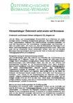 Download Pressemitteilung - Klimastrategie: Österreich setzt wieder auf Biomasse