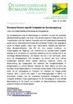 Download Pressemitteilung - Biomasse-Verband begrüßt Forstpaket der Bundesregierung