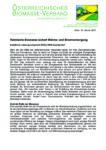 Download Pressemitteilung - Heimische Biomasse sichert Wärme- und Stromversorgung