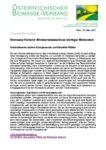 Download Pressemitteilung - Biomasse-Verband: Ministerratsbeschluss wichtiger Meilenstein