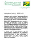 Download Pressemitteilung - Bioenergie kann noch mehr als CO2-neutral