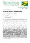 Download Pressemitteilung - EAG: Wichtiger Teilerfolg für die Bioenergie-Branche