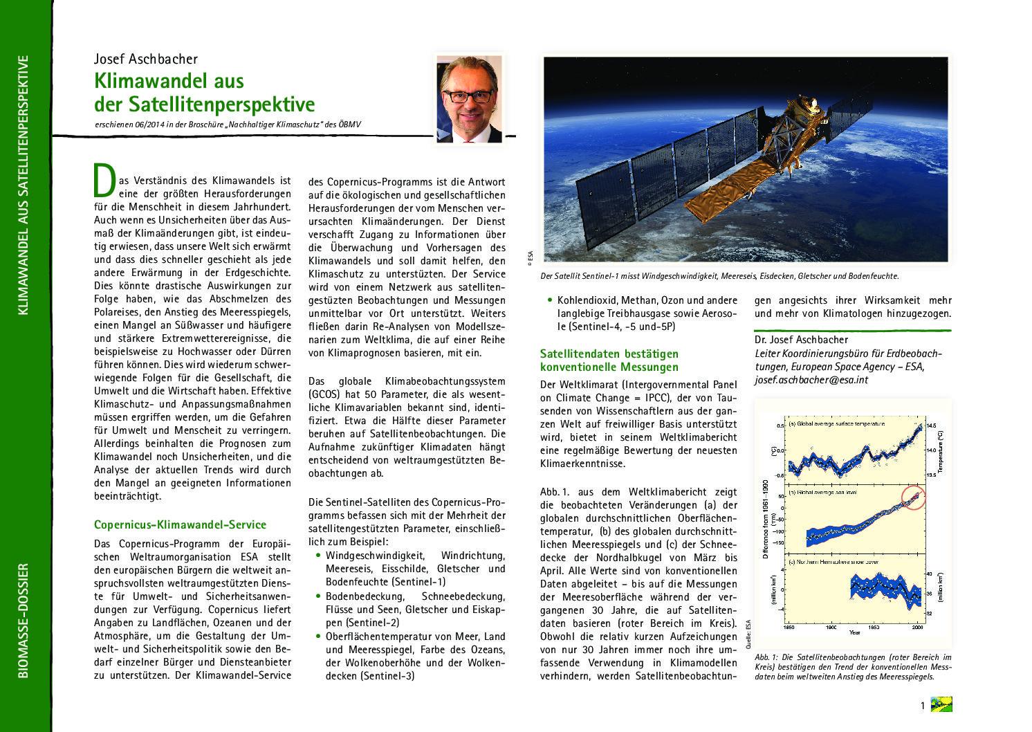 Klimawandel aus der Satellitenperspektive