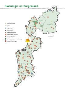 Karte von Bioenergie im Burgenland