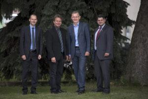v.l. Michael Mock, GF Fachverband Gas Wärme, Präsident Franz Titschenbacher, ÖBMV, Obmann Peter Weinelt, Fachverband Gas Wärme, und Christoph Pfemeter, GF ÖBMV