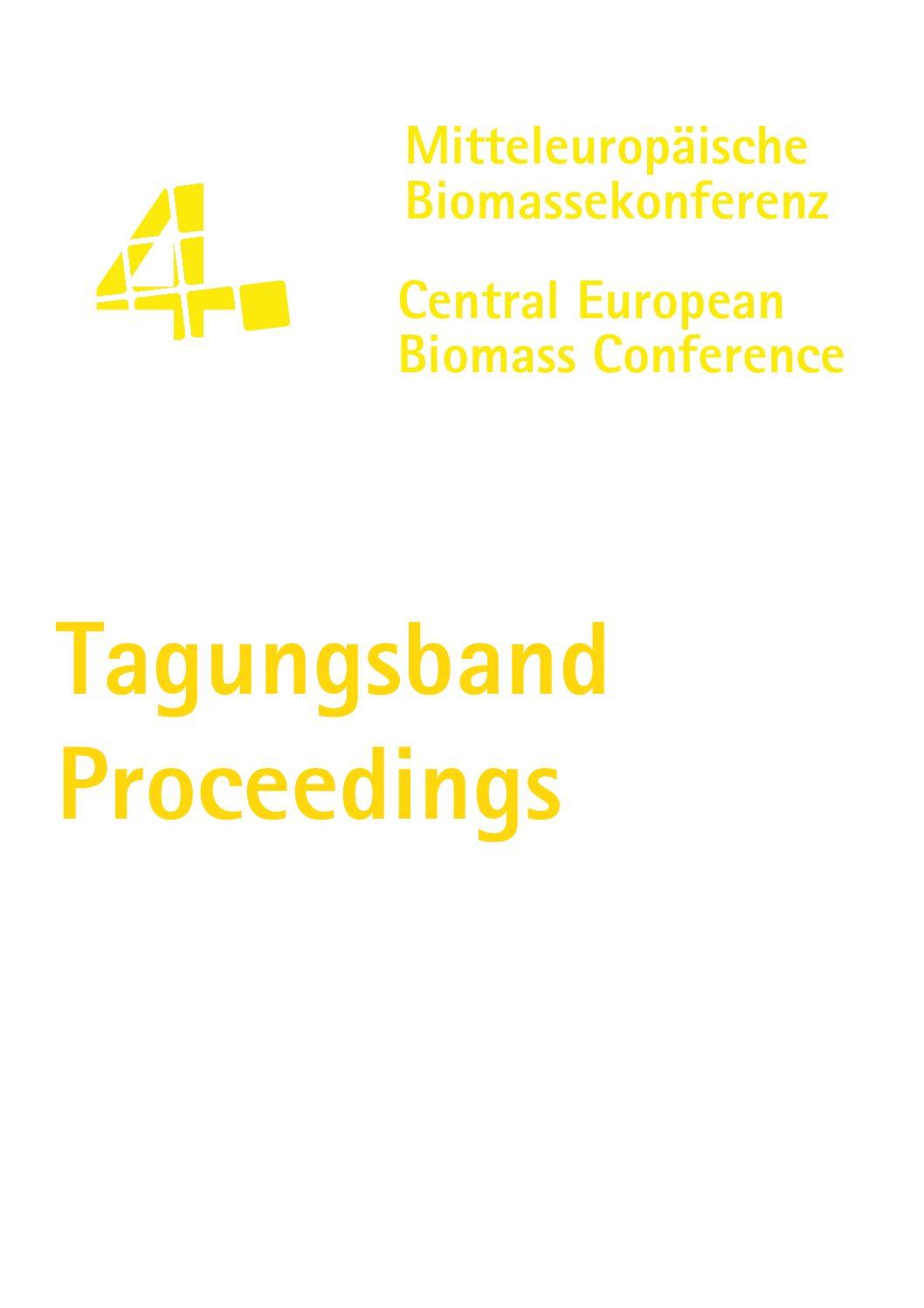 Tagungsband / Conference Proceedings CEBC 2014