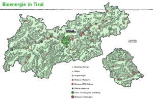 Karte Bioenergie in Tirol