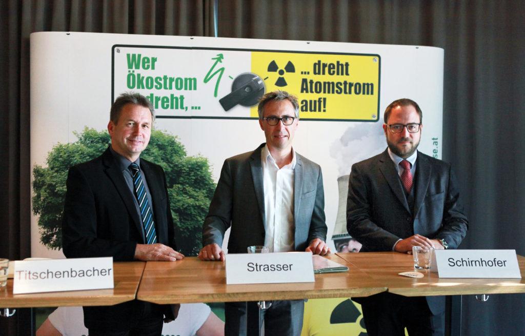 v.li.: Franz Titschenbacher, Georg Strasser, Lukas Schirnhofer
